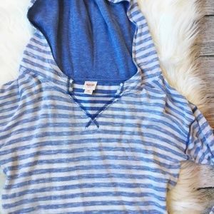 Striped Hooded Pullover by Mossimo